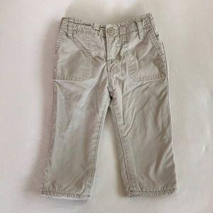 Baby Gap Fleece Lined Boy Khaki Pants